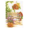 """Набор для вышивания Миниатюра """"Отдых в саду. Скамейка"""" """"Vervaco"""""""