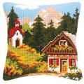 """Набор для вышивания Подушка """"Осень в горах"""" 40х40см """"Vervaco"""""""