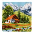 """Набор для вышивания Подушка """"Дом в горах"""" 40х40см """"Vervaco"""""""