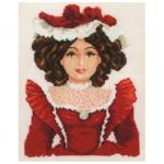"""Набор для вышивания """"Фарфоровая кукла в красном"""" """"Vervaco"""""""