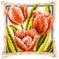 """Набор для вышивания Подушка """"Весна. Тюльпаны"""" 40х40см """"Vervaco"""""""