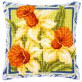 """Набор для вышивания Подушка """"Весна. Нарциссы"""" 40х40см """"Vervaco"""""""