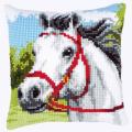 """Набор для вышивания Подушка """"Белый конь"""" 40х40см """"Vervaco"""""""