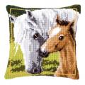 """Набор для вышивания Подушка """"Лошадь и жеребенок"""" 40х40см """"Vervaco"""""""