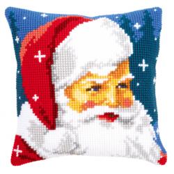 "Набор для вышивания Подушка ""Добрый Санта Клаус"" 40х40см"