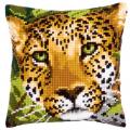 """Набор для вышивания Подушка """"Леопард"""" 40х40см """"Vervaco"""""""