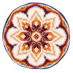 """Набор для вышивания Подушка круглая """"Цветочный узор"""" 40см """"Vervaco"""""""