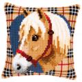 """Набор для вышивания Подушка """"Клетка. Лошадь"""" 40х40см """"Vervaco"""""""