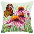 "Набор для вышивания Подушка ""Бабочка на цветке"" 40х40см ""Vervaco"""