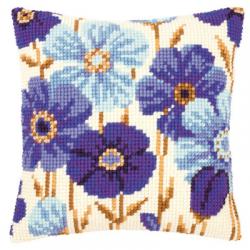 """Набор для вышивания Подушка """"Синие цветы"""" 40х40см """"Vervaco"""""""