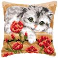 """Набор для вышивания Подушка """"Кошка в цветах"""" 40х40см """"Vervaco"""""""