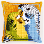 """Набор для вышивания Подушка """"Волнистые попугайчики"""" 40х40см """"Vervaco"""""""