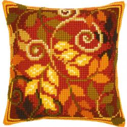 """Набор для вышивания Подушка """"Осенние листья 1"""" 40х40см """"Vervaco"""""""