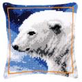 """Набор для вышивания Подушка """"Полярный медведь"""" 40х40см """"Vervaco"""""""
