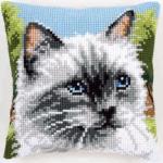"""Набор для вышивания Подушка """"Сиамская кошка"""" 40х40см """"Vervaco"""""""