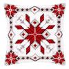 """Набор для вышивания Подушка """"Снежинка"""" 40х40см """"Vervaco"""""""