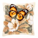 "Набор для вышивания Подушка ""Жёлтая бабочка"" 40х40см ""Vervaco"""