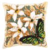 "Набор для вышивания Подушка ""Зеленая бабочка"" 40х40см ""Vervaco"""