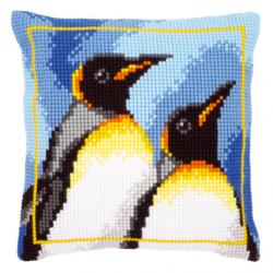 """Набор для вышивания Подушка """"Королевские пингвины"""" 40х40см"""