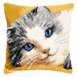 """Набор для вышивания Подушка """"Котенок с голубыми глазами"""" 40х40см """"Vervaco"""""""