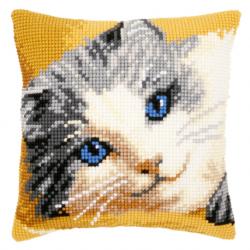 """Набор для вышивания Подушка """"Котенок с голубыми глазами"""" 40х40см"""