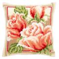 """Набор для вышивания Подушка """"Розовые розы 2"""" 40х40см """"Vervaco"""""""