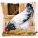 """Набор для вышивания Подушка """"Серая курица"""" 40х40см """"Vervaco"""""""