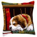 """Набор для вышивания Подушка """"Собака на книжной полке"""" 40х40см """"Vervaco"""""""