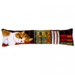 """Набор для вышивания Подушка от сквозняка """"Кот на книжной полке"""" 80х20см """"Vervaco"""""""