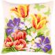 """Набор для вышивания Подушка """"Весенние цветы"""" 40х40см """"Vervaco"""""""