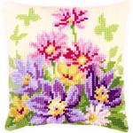 """Набор для вышивания Подушка """"Цветы в пастельных тонах"""" 40х40см """"Vervaco"""""""
