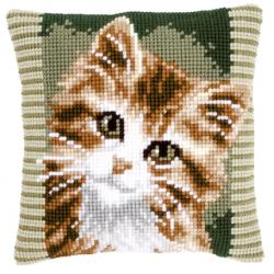 """Набор для вышивания Подушка """"Коричневый котик"""" 40х40см """"Vervaco"""""""