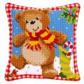 """Набор для вышивания Подушка """"Медвежонок с подарками"""" 40х40см """"Vervaco"""""""