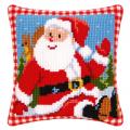 """Набор для вышивания Подушка """"Весёлый Дед Мороз"""" 40х40см """"Vervaco"""""""