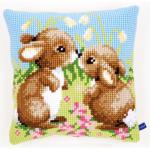 """Набор для вышивания Подушка """"Маленькие кролики"""" 40х40см """"Vervaco"""""""