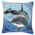 """Набор для вышивания Подушка """"Дельфин на глубине"""" 40х40см """"Vervaco"""""""