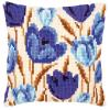 """Набор для вышивания Подушка """"Синие тюльпаны"""" 40х40см """"Vervaco"""""""