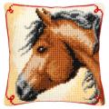 """Набор для вышивания Подушка """"Конь"""" 40х40см """"Vervaco"""""""