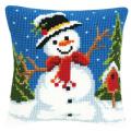 """Набор для вышивания Подушка """"Весёлый снеговик"""" 40х40см """"Vervaco"""""""