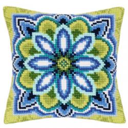 """Набор для вышивания Подушка """"Сине-зелёный узор Цветок"""" 40х40см """"Vervaco"""""""