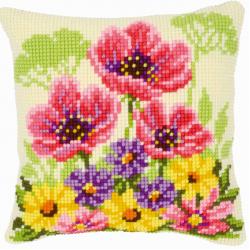 """Набор для вышивания Подушка """"Полевые цветы"""""""