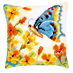 """Набор для вышивания Подушка """"Бабочка с цветами"""""""