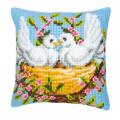 """Набор для вышивания Подушка """"Белые голуби"""" 40х40см """"Vervaco"""""""
