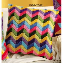 """Набор для вышивания Подушка """"Цветные волны"""" 40х40см"""