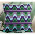 """Набор для вышивания Подушка """"Зелено-сиреневые волны"""" 40х40см """"Vervaco"""""""