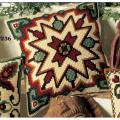 """Набор для вышивания Подушка """"Коричнево-зеленый орнамент 2"""" 40х40см """"Vervaco"""""""