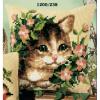 """Набор для вышивания Подушка """"Кот в розовых цветах"""" 40х40см """"Vervaco"""""""