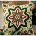 """Набор для вышивания Подушка """"Коричнево-зеленый орнамент 4"""" 40х40см """"Vervaco"""""""