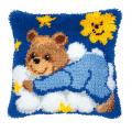 """Набор для вышивания Подушка """"Мишка на облаке в голубом"""" 40х40см """"Vervaco"""""""