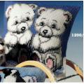 """Набор для вышивания Подушка """"Белые медвежата"""" 40х40см """"Vervaco"""""""